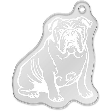Azeeda Bulldog Inglés Llavero Grande (AK00047133): Amazon ...