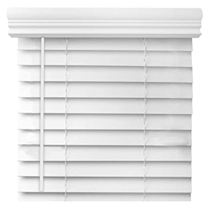 Cordless 2 Inch Faux Wood Blinds.Cordless 2 Inch Faux Wood Blind Custom Made White And Printed Real Grain Colors 24 1 8 Thru 30 36 1 8 Thru 48