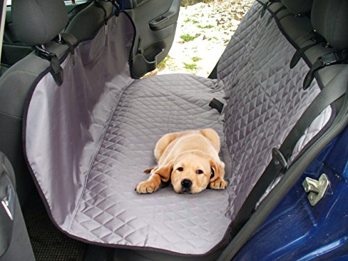 UsefulThingy Dog Car Seat Covers for SUV Cars – Back Seat Protector Rear Organizer – Small Medium or Large Pets Dogs – Waterproof Hammock 2 Colors(Grey) Review