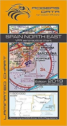 Spain North East Rogers Data Vfr Luftfahrtkarte 500k Spanien Nord