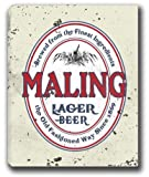 "MALING Lager Beer Stretched Canvas Sign 24"" x 30"""