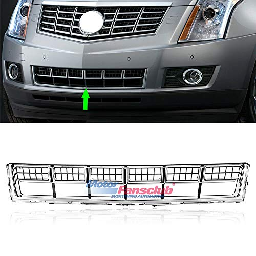 MotorFansClub Front Grill for Cadillac SRX 2013 2014 2015 Bumper Lower Grille Hood Mesh Grill, Chrome
