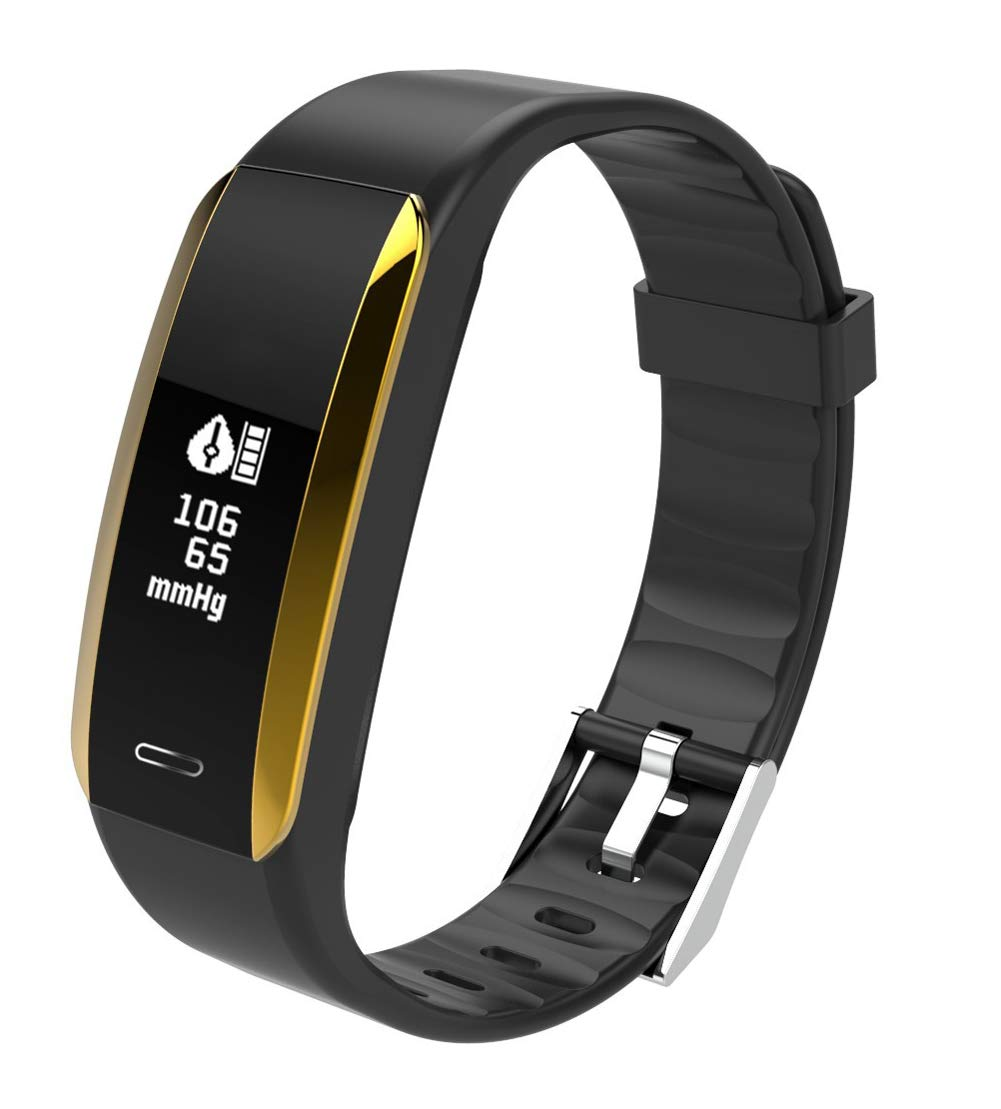 YANGYA Ip67 Waterproof Smart Bracelet, Smart Wristband with Step Calorie Counter, Multiple Sports Mode Activity Tracker Compatible with Android iOS-Black by YANGYA