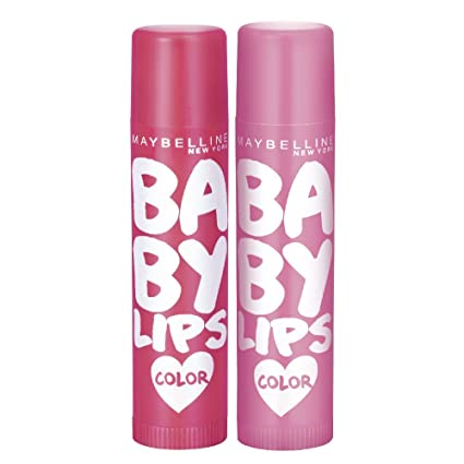 Maybelline New York Baby Lips Berry Crush & Baby Lips Pink Lolita, Red, Pink, 31.2 g (Pack of 2)