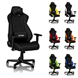 NITRO CONCEPTS S300 Gaming Chair - Stealth Black - Office Chair - Ergonomic