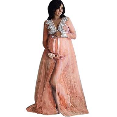 962e4d0877d0 Breastfeeding Pads, Women Lace Maternity Dress WomenPregnancy Lace Long  Maxi Dress,Maternity Dresses,