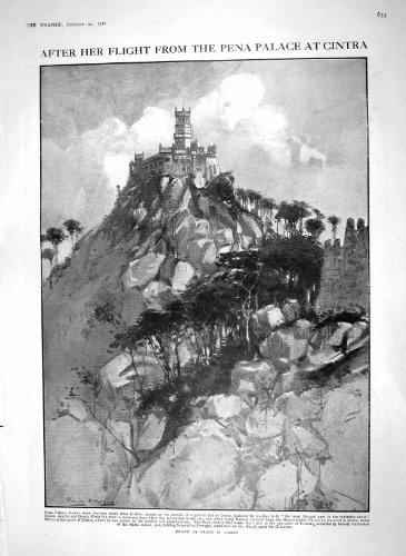 old-print Print 1910 Pena Palace Cintra Queen Amelia Jonathan Hulls 633M182
