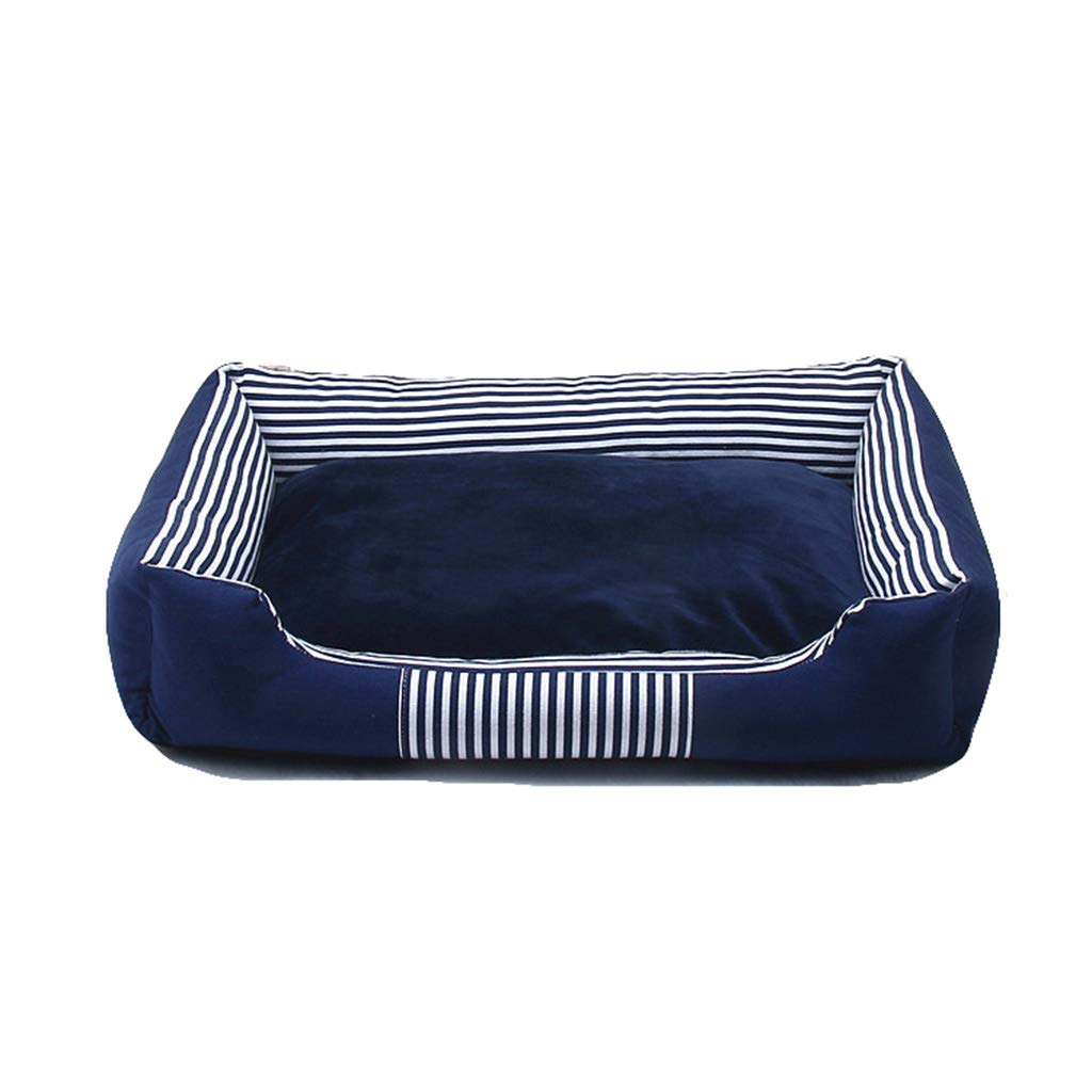 bluee Small bluee Small Qi Dog Cat Bed Cushion Pet Mat Pet Supplies Carrier Sleep Well Lounge Soft Comfortable Pet Bed Mat (color   bluee, Size   S)