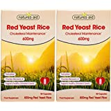 (2 Pack) - Natures Aid - Red Yeast Rice 600mg | 90's | 2 PACK BUNDLE