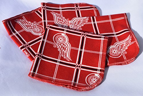 1 Ply 10x10 4 Pack Printed Flannel Washable-Red Wings-paperless - Nice One Shop