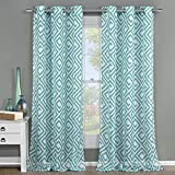 Duck River Textiles - Home Fashion Sheer Grommet Top Window Curtains for Living