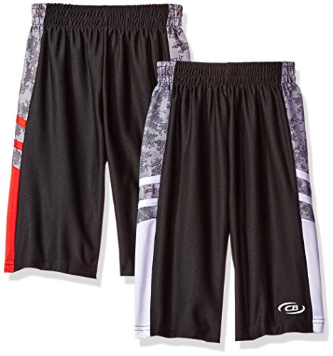 CB Sports Little Boys' 2 Mesh Athletic Shorts, Pack Engine Red/White, 5/6