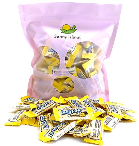 (Sunny Island Bulk - Wonka Laffy Mini Taffy Pineapple Flavored Candy, Fun Size Chewy Taffy Candy, 2 Pounds Pack (90 Count))
