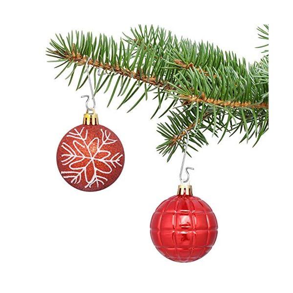 Kiiwah 200 Pezzi S Hooks Ganci Palle Natale, Ganci per Ornamenti Appendere in Metallo Albero di Natale Decorazioni per Feste di casa (Argento) 3 spesavip