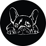 French Bulldog Silhouette Home Decal Vinyl Sticker 12'' X 12''