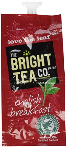 THE BRIGHT TEA CO., English Breakfast Tea Freshpacks for MARS DRINKS FLAVIA Brewer, 20 Packets by Mars Drinks