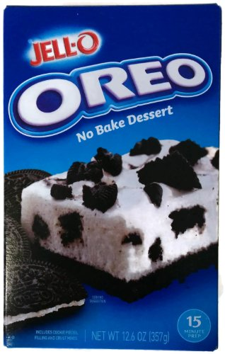 Jell-O Oreo No Bake Dessert, Pack of 2 12.6oz (357g)