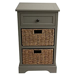 Décor Therapy End Table, Antique Gray