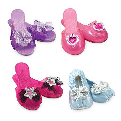 Melissa & Doug Role Play Collection - Step In Style! Dress-Up Shoes Set (4 Pairs) ()