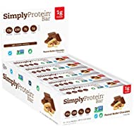 SimplyProtein Bar, Peanut Butter Chocolate, Pack of 15, Gluten Free, Non GMO, Vegan