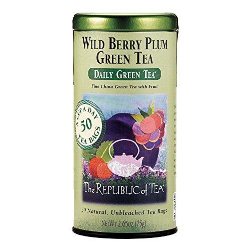 The Republic of Tea, Wild Berry Plum Green Tea, 50-Count