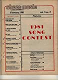 Sheet Music Magazine February 1981 (Standard Piano / Guitar, Today's Hits... Don't Cry Out Loud, Stand By Me)