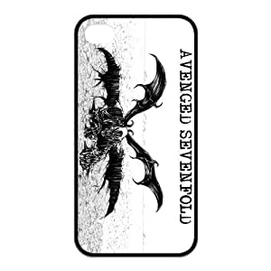 Protective TPU Rubber Coated Phone Case for iPhone 4S / iPhone 4 - A7X Avenged Sevenfold