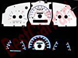 95-97 Ford Explorer/Ranger no Tach WHITE GLOW GAUGES