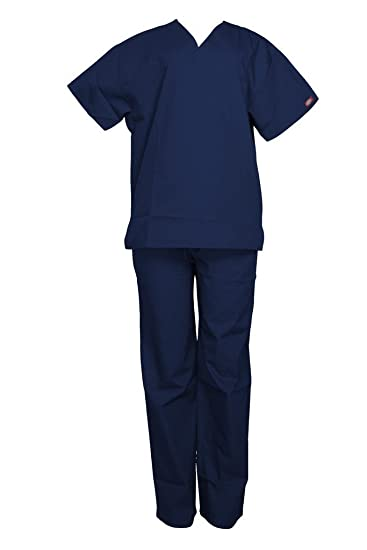 de13d158cca Dickies Unisex V-Neck top and drawstring pants: Amazon.co.uk: Clothing
