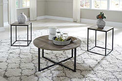 (FurnitureMaxx Waterforth Contemporary Wood Two-Tone Occasional Table Set)
