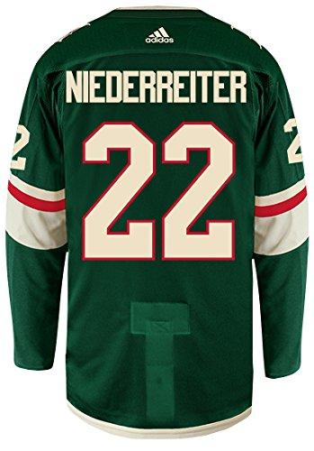 adidas Nino Niederreiter Minnesota Wild Authentic Home NHL Hockey ()