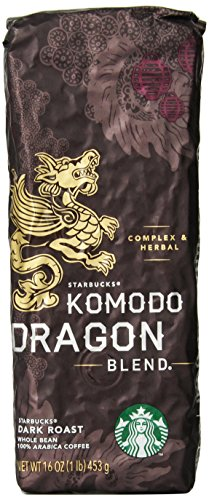 Starbucks Komodo Dragon Merge&reg, Whole Bean Coffee (1lb)