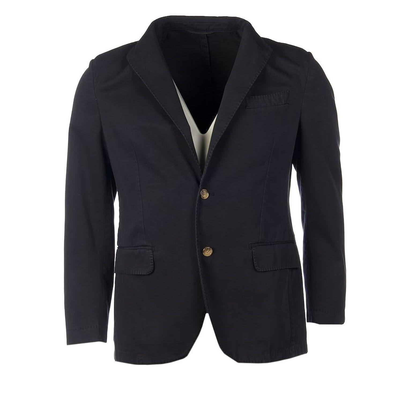 DINIZ & CRUZ VINTAGE Jacket Navy Cotton Button Front Size 48 ZB 1129