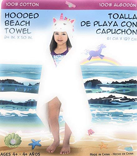 Hooded beach towel Unicorn [並行輸入品]   B07RHJPKNW