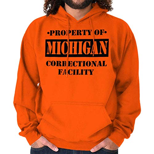 Brisco Brands Property of Michigan Correctional Facility Hoodie Orange