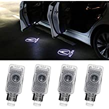 biukpci Car Door LED Logo Projector Ghost Shadow Lights Welcome Lamp for Acura 4 Pack