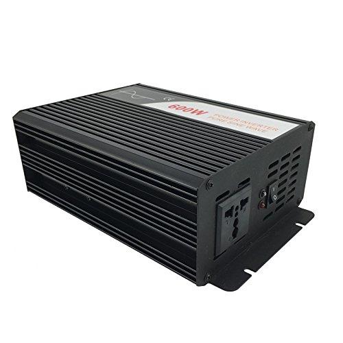 Xijia 600W (Peak 1200W) Pure Sine Wave Power Inverter DC 12V 24V 48V to AC 120V 60HZ Solar Converter for Home Use car (DC 48V to AC 120V)