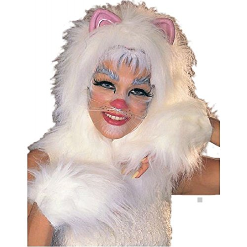 (Cats Kit Black Gold Pink or White Costume Accessory Set Adult)
