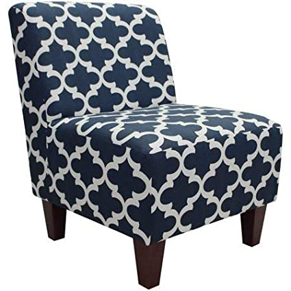 Amazoncom Mainstays Amanda Armless Accent Chair Navy Blue And