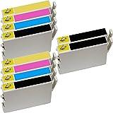 10 Inkfirst® 60 Ink Cartridges T0601, T0602, T0603, T0604 Compatible Remanufactured for Epson 60 Black, 60 Cyan, 60 Magenta, 60 Yellow (2 Set + 2 Black) Stylus CX3800 CX3810 CX4200 CX4800 CX5800F CX7800 C68 C88 C88+