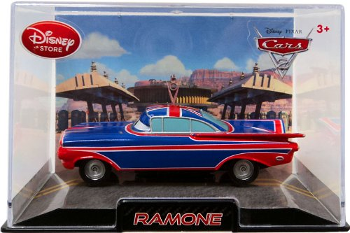 amazoncom disney pixar cars 2 movie exclusive 148 die cast car in plastic case ramone uk flag paint job toys games - Cars The Movie 2 Characters