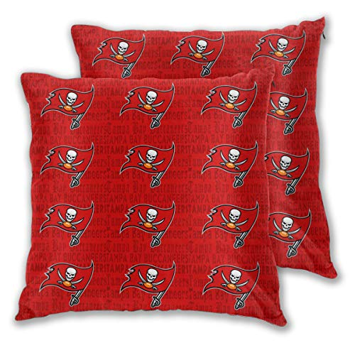 Marrytiny Design Colorful Pillowcase Set of 2 Tampa Bay Buccaneers American Football Team Bedding Pillow Covers Pillow Cases for Sofa Bedroom Home Decorative - 22x22 Inches