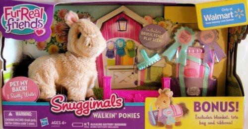 FurReal Friends Snuggimals Walkin Poinies Misty Moon with Bonus
