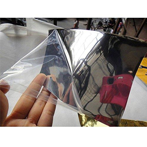 Hoho extensible Noir miroir chromé en vinyle sans bulles d'air de film 152,4x 50,8cm high-quality