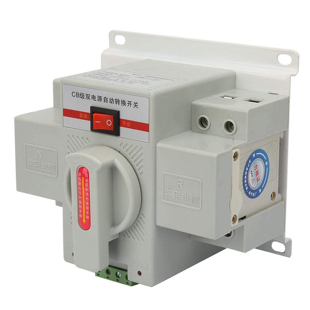 New Industry&Home Dual Power Automatic Transfer Switch 63A 2P 110V Toggle Switch Isolation Type Dual Transfer Switch