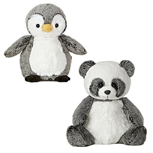 Aurora Sweet Softer Perky Penguin Ping Panda Plush Bundle