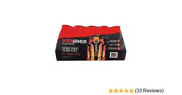 Amazon.com : BODY ARMOR Sports Drinks Variety Pack 16 oz bottle, 15 Count : Grocery & Gourmet Food