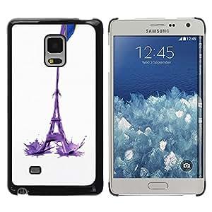 Shell-Star Arte & diseño plástico duro Fundas Cover Cubre Hard Case Cover para Samsung Galaxy Mega 5.8 / i9150 / i9152 ( Eiffel Tower Milk Abstract )