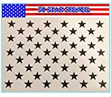American Flag 50 Star Stencil Template for Painting on Wood, Fabric, Walls, Airbrush and More, 10.5 x 15 inch (actual size 10.5 X 14.82). Made from Reusable Mylar Plastic.