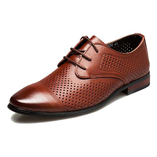 Scarpe con in Echtes Slip da Party Marrone Herren Business on Pelle Evening Schuhe Brown Sommerkleider Uomo Lacci Leder Ar41BxqwA